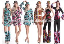 De China proveedor Retro más el tamaño de disfraces para mujer Cosutme del traje de Halloween