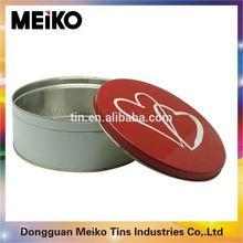 round tall metal tin box