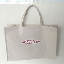cotton and linen fabric shopping bag