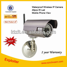 long distance night vision Popular style excellent image wireless outdoor ip camera