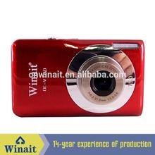 DC-V100 15 MP digital camera + 2.4'' TFT display + 8x digital zoom + anti shake + lithium cheap rechargeable digital camera