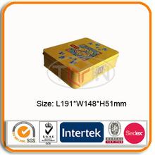 Cookie Tin Box/Sweety Rectangular tin Cans/4c Printing Metal Tin Packaging