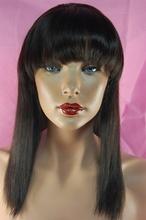 Hot selling 100% raw unprocessed virgin brazilian human hair wig bang