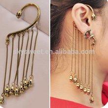 Fashion long skull earring,tassel ear hook cover