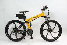 2015 Latest Off Road Electric Bike 48V 500W Magnesium Alloy Integral Wheel,Foldable Frame+48V 12Ah Li-ion Battery+LCD Display