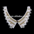 C070 2015 handmade wedding dressess Pearl trim lace collar necklace &beaded collar trim