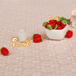 1/12 Dollhouse Miniature Fruit Strawberry 4pcs FF011