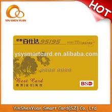 custom free design pvc visa card printing/plastic card printing