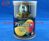 Canned yellow peach halves fruit in light syrup