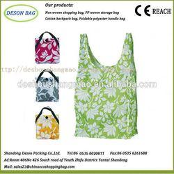 good quality polyester shopping custom foldable shopping trolley bag