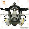 cono de seguridad completo la cara máscara de gas para la seguridad con conector en148 con anti niebla lente