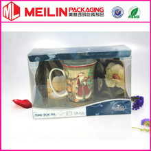 tea cup packaging plastic boxes glass cup clear packagin box