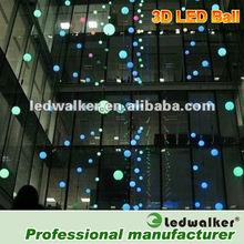 360degree customized led ball pitch,ball string light 15V rgb led ball