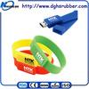 Hot selling colorful customized logo silicone usb flash drive bracelet