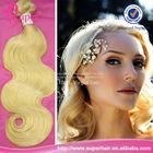Two tone kanekalon jumbo braiding hair blond virgin russian hair bundles