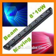 8 * 10W RGBW moving head led beam/High Quality Beam Lighting