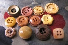 eco-friendly wooden button for A family of four summer clothing