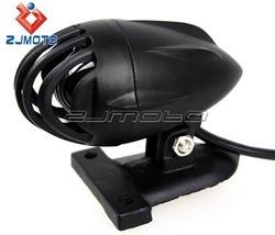 Custom Motorcycle Rear Lamp Bird Case Slotted Finned Grille Brake Stop Light Taillight for Cafe Racer Hotrod Bobber Chopper