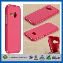 C&T 2014 cheap wholesale pure color soft tpu case for htc m8 mini