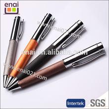free sample paint advertising ball pen organge/ Metal Mechanical Ball Point Pen