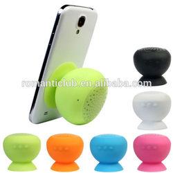 Hot Sale Portable Mini Sucker Bluetooth Mushroom Speaker Stand Speaker Silicone Wireless