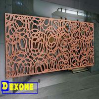 Metal exterior garden iron cut outs as decoration