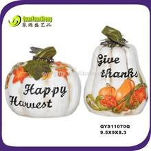 Autumn harvest fall decoration artificial white pumpkin