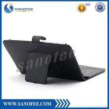 2014 hot Universal 8.9-10.1Inch Tablet Portfolio Leather Case W/ Detachable Bluetooth Keyboard
