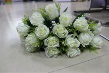 18 head beautiful artificial roses, artificial velvet rose flower