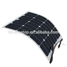 20% high efficiency flexible solar panel, mono semi flexible solar panel, 100 watt flexible solar panel china