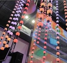 hottest china customized led ball pitch,ball string light 15V rgb led ball dmx