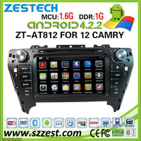 ZESTECH wholesale pure Android car dvd for TOYOTA CAMRY android car dvd player with Dual Core A9 DDR 8GB WiFi 3G