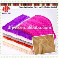 100% ployester plush fabric home textile