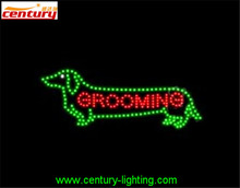 GROOMING animated led sign