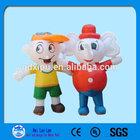 2014 hot sale Custom Giant Inflatable Moving Cartoon Elephant shape Cartoon