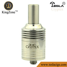Cryptex delivery fast 3 colors ss/copper/black air holes rebuildable support one/dual coils Cryptex rda atomizer from kingzone