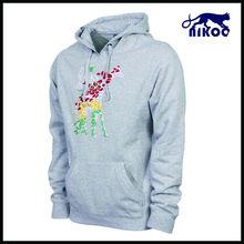 Winter popular womens custom hoodie, hoodies clothing, custom heather grey hoody