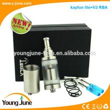 2014 new design vaporizer kayfun lite+V2 airflow control atomizer Kit THE BIG RBA ATOMIZER kayfun atomize