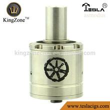 Kingzone Vending Asmodus rda !!air hole copper/ss no leak huge vapor Asmodus rda atomizer