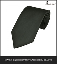 slim fit plain black tie