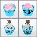 festa di compleanno favore cupcake avvolge taglio laser carta strumenti di cottura