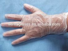 9 inch Disposable transparent food vinyl examination Gloves