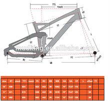 2014 Carbon 27.5ER MTB Suspension Frame Carbon 27.5 mountain 650B Suspension Frame