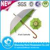 2014 Fashion Double Layer Mechanism Fruit Printed Umbrella Wooden Frame Regenschirm