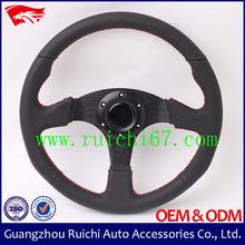 Best Seller Universal 350mm Genuine Leather ATV Steering Wheel