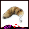hot selling artificial foxtail steel anal plug anal butt plug ass toys, ass plug for adult