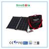 60w folding solar panel bag with TUV/PID/IEC/CQC/CE/CEC.cert