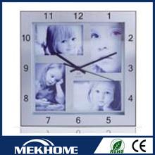 photo frame square wall clock/square shape wall clock