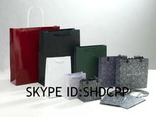 shanghai new fashion high quality fold shopping bag 2014 hand paper gift bags