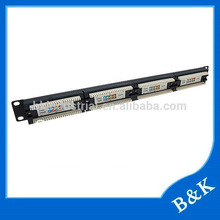 South America market hot sale 12 port patch panel with long life